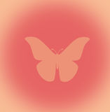 Butterfly Design. On peach background royalty free illustration