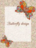Butterfly design card Stock Images