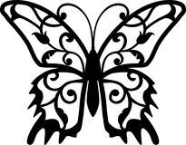Butterfly Design Element. In single color Royalty Free Stock Images