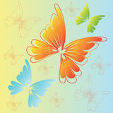 Butterfly. Design element in different color Royalty Free Stock Photography
