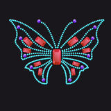 Butterfly from different colored gems. Rubies, sapphires stock illustration