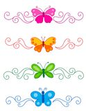 Butterfly divider Royalty Free Stock Photography