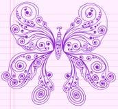 butterfly doodle henna sketch Στοκ φωτογραφίες με δικαίωμα ελεύθερης χρήσης
