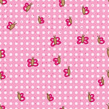 Butterfly dot small seamless pattern Royalty Free Stock Photography