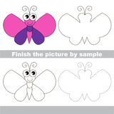 Butterfly. Drawing worksheet. Stock Photo