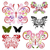 Butterfly elements set. Illustration Royalty Free Stock Photography