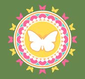 Butterfly Emblem Illustration Stock Images
