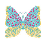 Butterfly embroidery artwork design for fashion wearing, graphic Stock Photography