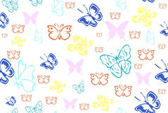 Butterfly endless pattern Royalty Free Stock Images