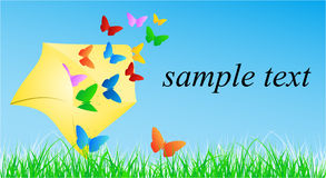 Butterfly in envelope Stock Photography