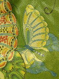Butterfly fabric Stock Photography