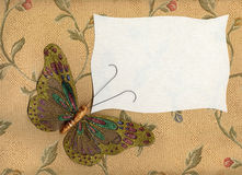 Butterfly fabric on textiles 1 Stock Image