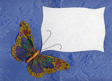 Butterfly fabric on textiles 2 Stock Photography