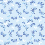 Butterfly fabric vector Royalty Free Stock Image