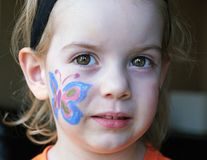Butterfly Face Painting stock images