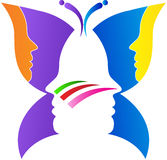 Butterfly face. A vector drawing represents butterfly face design Royalty Free Stock Photos
