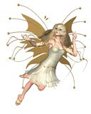 Butterfly Fairy - Golden. Digital render of a golden Butterfly Fairy Royalty Free Stock Images