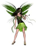 Butterfly Fairy - Green Stock Image