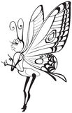 Butterfly fashion girl comics character Royalty Free Stock Photography