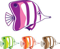 Butterfly fish. Vector illustration clip-art Royalty Free Stock Photos