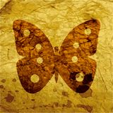 Butterfly. Flat modern web button and space for Royalty Free Stock Image