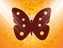 Butterfly. Flat modern web button and space for Stock Photos