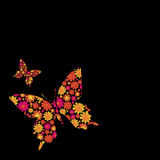 Butterfly floral Royalty Free Stock Images