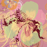 Butterfly on floral background Royalty Free Stock Images