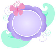 Butterfly Floral Logo. Illustration of a floral logo with a pink butterfly stock illustration