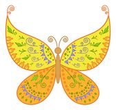 Butterfly with floral pattern Stock Photography