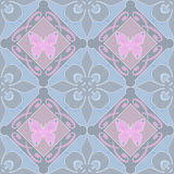 Butterfly floral seamless pattern Royalty Free Stock Photo