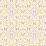 Butterfly floral seamless pattern Stock Image