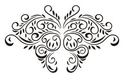 Butterfly floral. Beautiful butterfly in line art brush floral illustration idea concept Royalty Free Stock Image