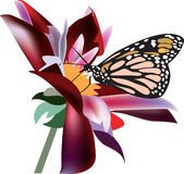 Butterfly on a flower. Vector illustration royalty free illustration