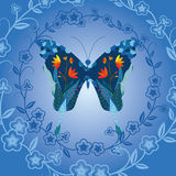 Butterfly and flower background Royalty Free Stock Images