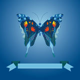 Butterfly and flower background Royalty Free Stock Photo