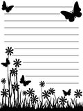 Butterfly and flower notepad Royalty Free Stock Image