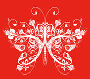 Butterfly flower pattern Royalty Free Stock Images