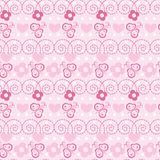 Butterfly and flower seamless pattern Royalty Free Stock Images