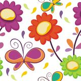 Butterfly and flower Seamless pattern design Royalty Free Stock Image