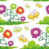 Butterfly and flower Seamless pattern design Stock Photography