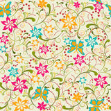Butterfly Flower Seamless Pattern - Illustration Stock Photography