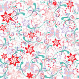 Butterfly Flower Seamless Pattern - Illustration Royalty Free Stock Photography