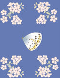 Butterfly and flowers. Illustration butterfly and flowers Royalty Free Illustration