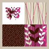 Butterfly and flowers pattern Royalty Free Stock Photos