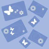 Butterfly flowers rectangle design 001 Stock Image