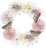 Butterfly and flowers Royalty Free Stock Image