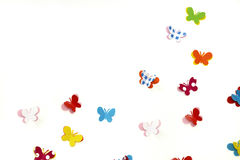 Butterfly Follow Loves Note Board Royalty Free Stock Photography