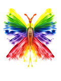 butterfly in the form of a rainbow Stock Photo