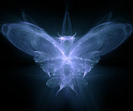 Butterfly - fractal generated. Set on black Royalty Free Stock Photos